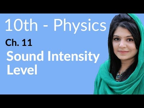 10th Class Physics, Ch 11,Sound Intensity Level - Class 10th Physics