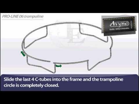 AVYNA PRO-LINE 06 Ø 2m00 | Montage trampoline