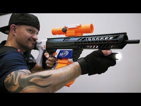 NERF GUN WAR: SIG SAUER MCX NERF MOD!