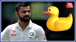 Shatak Aaj Tak: Virat Kohli Out For Zero For The First Time In Tests In India