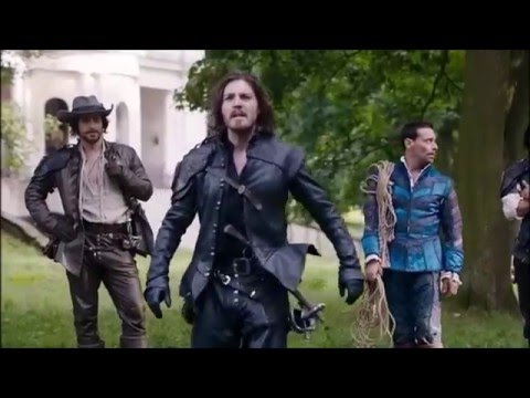 The Musketeers Dealing With a Horse scene