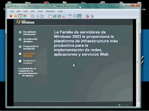 Instalar Windows Server 2003 virtualizado en VMware Workstation sobre Windows 7