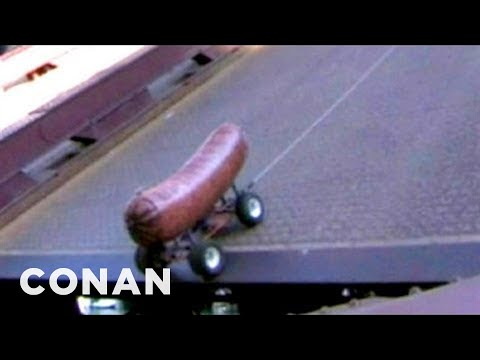 Conan - 10 Ft Bratwurst Jumps Over State Street Bridge