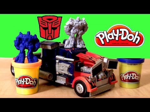 Optimus Prime - This the Play-Doh Transformers 3 Playset Dark Side of the Moon with talking Optimus Prime Rescue Bots superheroes figure. It comes w 6 double sided Character Stampers and 3 cans of playdoh...