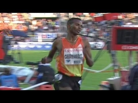Gebremeskel holds off Gebrhiwet for 5000m win at 2012 Oslo Bislett Diamond League