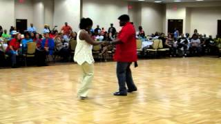 2012 - Jay Owens and Barbara Lewis, showcasing Houston Two-step at the Steady Steppers Las Vegas Jam