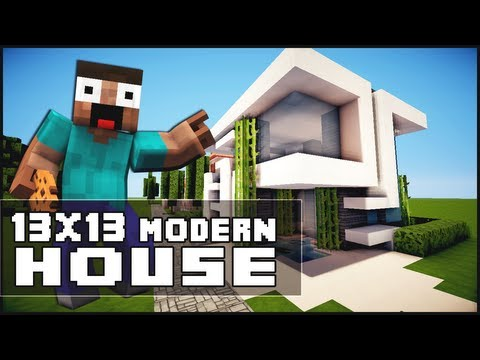 Minecraft walkthrough lets build small modern house for Modern house 18x18