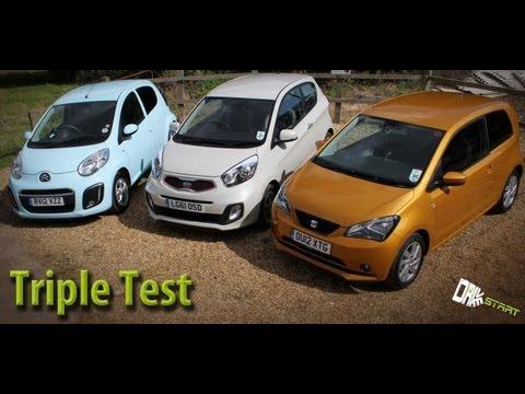SEAT Mii vs Kia Picanto vs Citroen C1 Review – Drive Start