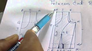 Princess Cut Blouse Measurement Drafting Pattern Layout Cutting Stitching Part 2 Of 10 Hindi
