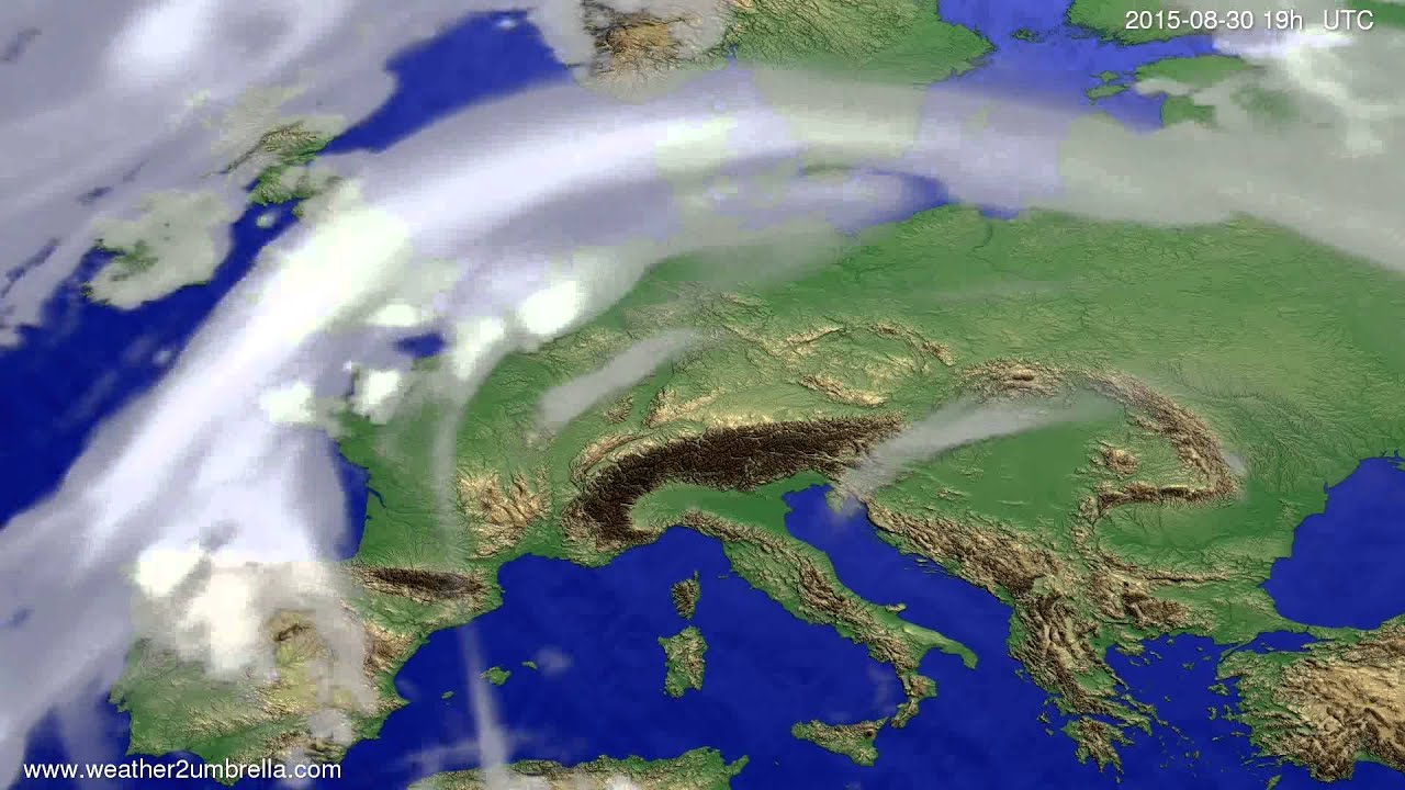 Cloud forecast Europe 2015-08-28