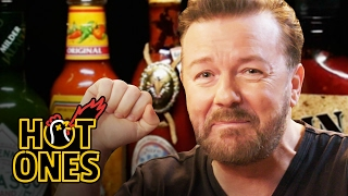 Video Ricky Gervais Pits His Mild British Palate Against Spicy Wings | Hot Ones MP3, 3GP, MP4, WEBM, AVI, FLV Agustus 2019