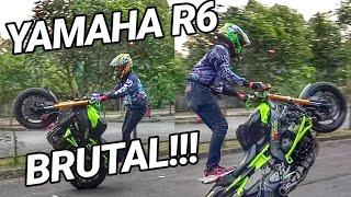 Video Yamaha R6 STUNTBIKE Sangat BRUTAL   Testride wheelie MP3, 3GP, MP4, WEBM, AVI, FLV Juni 2018