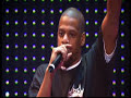 This is a clip from the live recording of Jay-Z's show at Madison Square Garden on 25th November 2003. He performs Hard Knock Life, and then gives a tribute to Notorious B.I.G., BIG PUN, Left...
