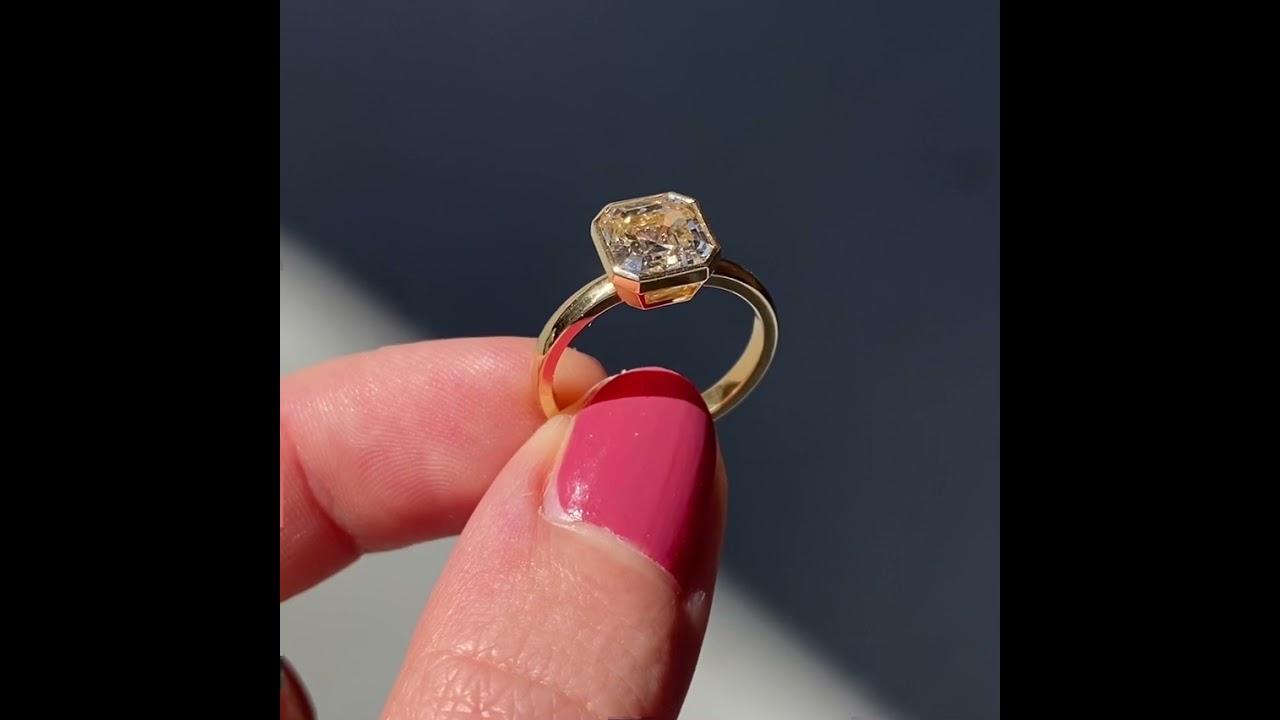 2.30ct Asscher Cut Wyler Engagement Ring