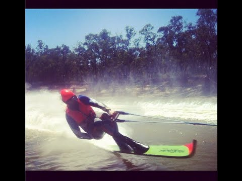 Jake Tegart lands a 120mph save at the 2013 Southern 80 Water Ski Race