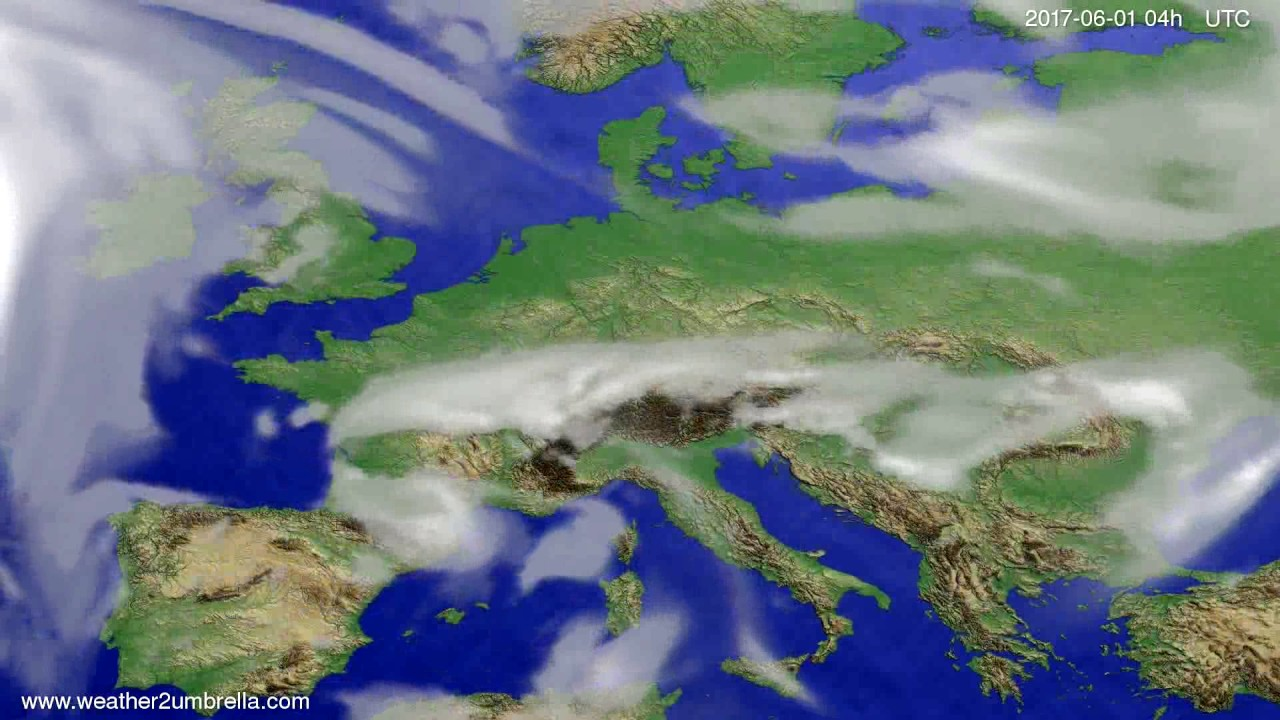 Cloud forecast Europe 2017-05-28