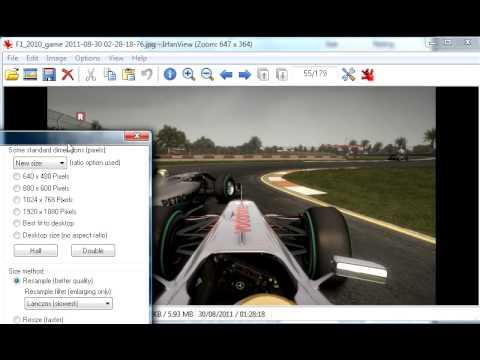 Video 0 de IrfanView: Reducir tamaño de imagen