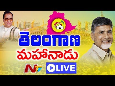 Telangana TDP Mahanadu LIVE    Nampally Exhibition Grounds Hyderabad    NTV (видео)