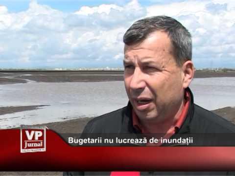 Bugetarii nu lucrează de inundații
