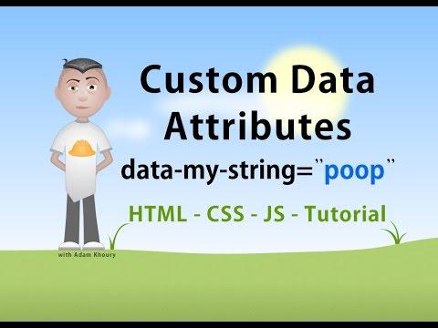Custom Data Attributes HTML JavaScript CSS Tutorial