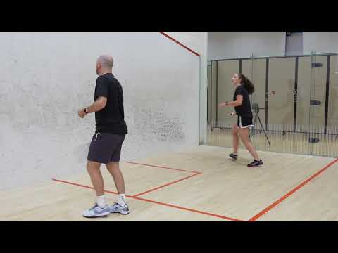 Squash tips: Forehand back corner coaching session - Digging the ball out of the deep forehand