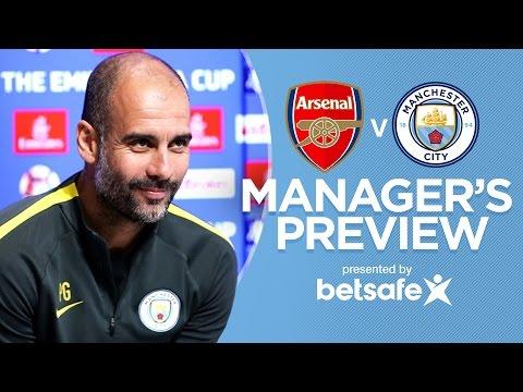 Video: JESUS WILL TRAVEL   Arsenal v Man City FA Cup   Guardiola Press Conference
