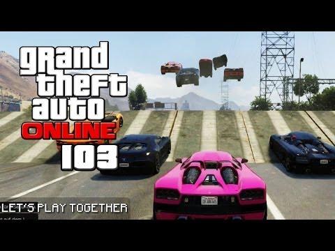GTA ONLINE TOGETHER #103: MEGA-JUMPS mit Höchstgeschwindigkeit [LET'S PLAY GTA V] (видео)