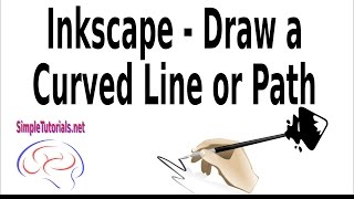 Inkscape - Draw Curved Line or Path - 3 Ways to Draw Curved Line or Path...Beginners or newbies, take a quick look at how to draw a Curved Line or Path in Inkscape by watching this video.