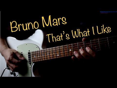 Bruno Mars That's What I Like – Electric guitar cover by Vinai T