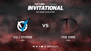 VG.J Storm против The Dire, Первая карта, NA квалификация SL i-League Invitational S3