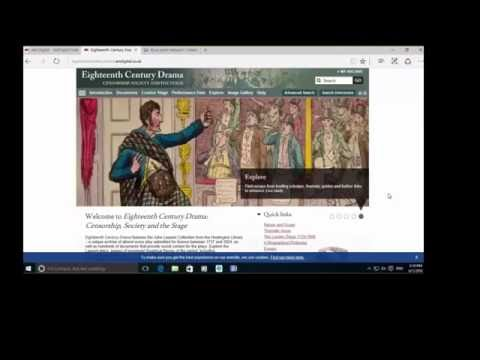 Product Overview Webinar: Eighteenth Century Drama