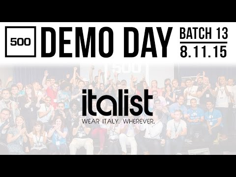 [500 STARTUPS DEMO DAY 2015] POST-SEED, Italist