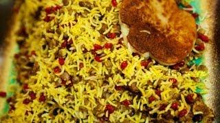 طرز تهیه غذای ایرانی عدس پلو -- lentils Rice