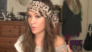 How To Tie a Easy BOHO Head Scarf Tutorial - YouTube