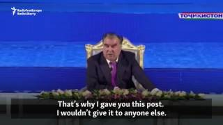 The new 29-year-old mayor of the Tajik capital, Dushanbe, gets a lecture from his dad. Originally published at ...