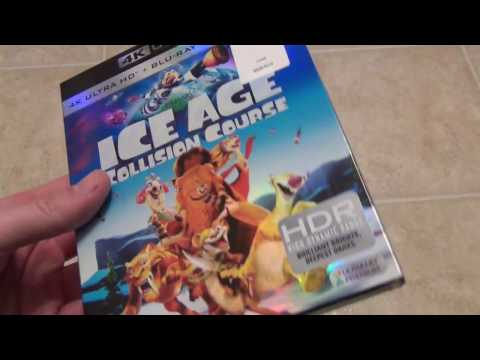 Ice Age Collision Course 4K Ultra HD Blu-Ray Unboxing