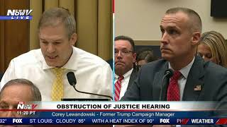 JIM JORDAN: Big MOMENT Questioning Corey Lewandowski Trump Impeachment Hearing