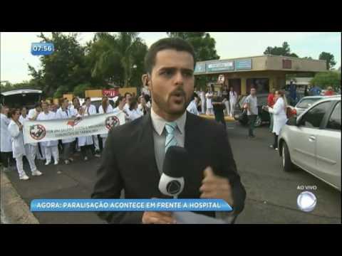 Enfermeiros protestam contra a reforma da Previdência em Bauru (SP)