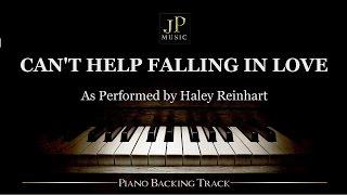 Video Can't Help Falling In Love (Piano Accompaniment) Haley Reinhart MP3, 3GP, MP4, WEBM, AVI, FLV Januari 2018
