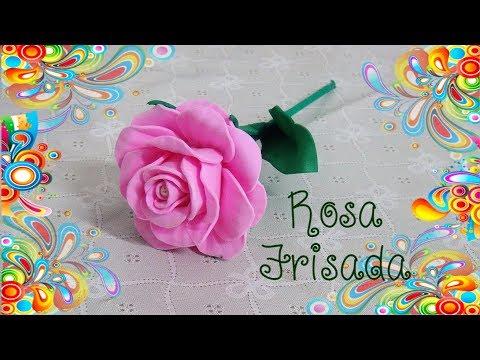 elegantissima rosa realizzata in foamy