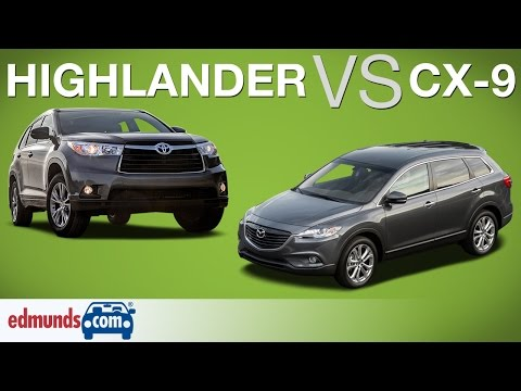 Toyota Highlander vs Mazda CX-9 – Edmunds A-Rated Crossover SUVs Face Off
