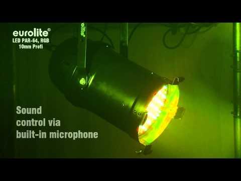 Eurolite LED PAR-64 RGB 10mm long. LED PAR-64 Profi Spot