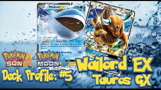Pokemon TCG Sun and Moon Deck Profile #5: Wailord EX/Tauros GX by Demon SnowKing