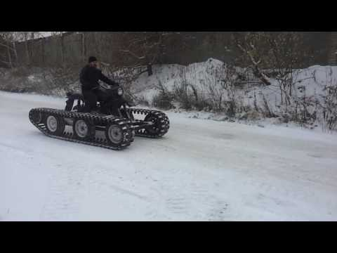 Снегоход на гусеницах из мотоцикла урал своими руками