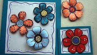 DIY colorful paper flowers for scrapbooking or card making - YouTube