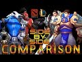 Dota 2 and League of legends - Side by Side - characters comparison Mp3 Song