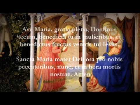 Catholic Prayers – Hail Mary, Latin