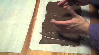 Making Large Chocolate Curls - The Aubergine Chef