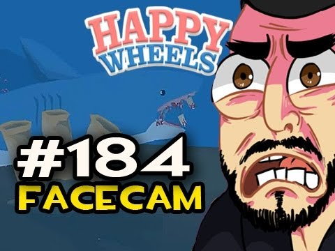 Happy Wheels w/Nova Ep.184 FACECAM - THATS A SHARK OMG Video