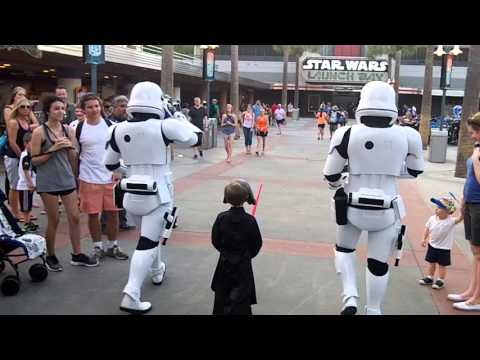 Stormtroopers Escort Mini Kylo Ren Through Disney World s Star Wars